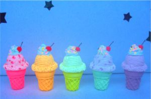 NEON ice cream charms by rottingteeth