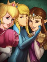 Girls of Super Smash Bros. by Gravija-Sunrise