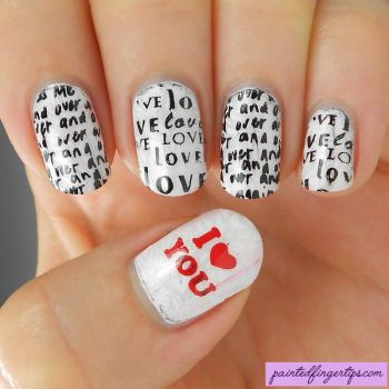 Love-letter-nails by Painted-Fingertips