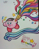 :Kirby: Paint for me a lovely drawing by Plucky-Nova