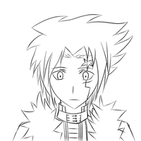 Allen Walker - D.Gray-Man(wip lineart) by AniDutchSubs