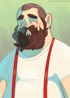 Burly Suspenders Guy by DrewGreen