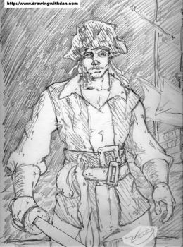 The Lonely Pirate by drawingwithdan