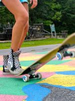 Skateboard and Vans by toothless-dentists