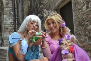 Rapunzel and Kida loves Pascal by Lady-Ragdoll