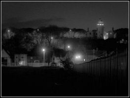 Lighthouse b and w night. by chivt800