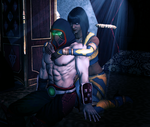 MKX - Ermac X Tanya - When the Emperor is away by SovietMentality