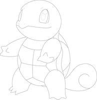 Lineart of Squirtle by InuKawaiiLover