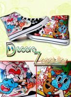 The amazing world of Gumball shoes by Raw-J