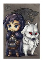 John Snow and Ghost by filhotedeleao
