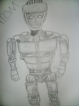 sketch-a-day 7: atom real steel by poisonrose425