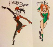 Harley and Ivy colored by Henley420