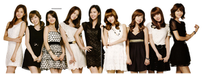 PNG : SNSD Girls Generation by chazzief