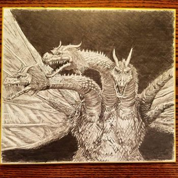 Showa King Ghidorah by Lenzations