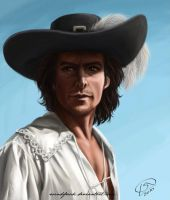 Jeremy Brett as d'Artagnan by Windfreak
