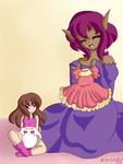 YCH: Dress up with Rosettia and Carella by AD-SD-ChibiGirl