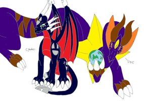 Cynder and her big brother  Voc by pd123sonic