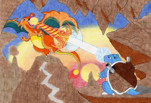 Charizard and Blastoise by Kraft-and-Art