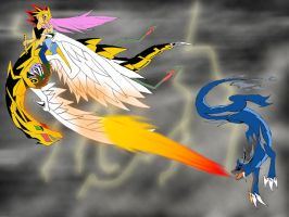 YGO Dragon Fight by Shadowsky-dragon
