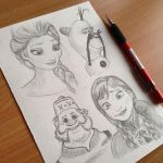 Frozen sketches by Steve-Nice