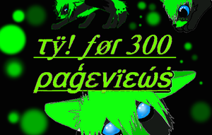 TY For 300 PAGEVIEWS =3 by OikikiO