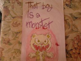 That boy is a monster by Ctlna0199