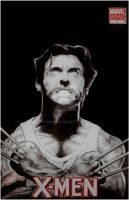 XMEN #1 WOLVERINE PORTRAIT ON BLANK COVER by BUMCHEEKS2