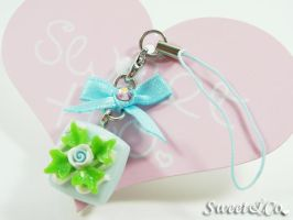 Chocolate Cell Phone Strap by SweetandCo