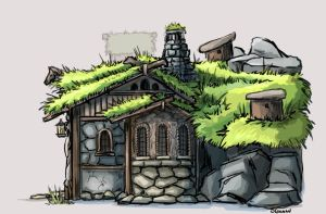 Beorn's Hut - Side Elevation by lunatteo