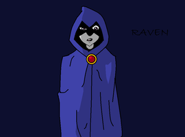 Raven in Paint by crocrus