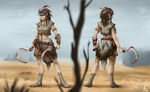 Postapocalyptic lady concept by gonedreamer
