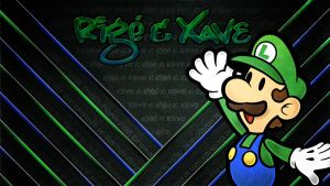Luigi Blue Wallpaper with RX by Kyoakuno