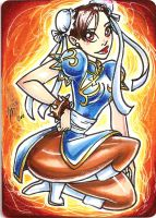 chun li sketch card by mainasha