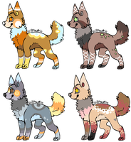 More Canine Adoptables -CLOSED- by ReedAdopts