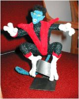 Pipe Cleaner Nightcrawler by fuzzymutt