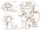 Flowey sketches by diedott