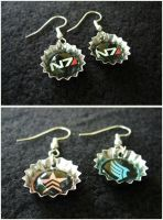 Mass Effect N7 Paragon Renegade Earrings by Monostache