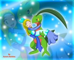Princess Haley and Grovyle by FairyAurora