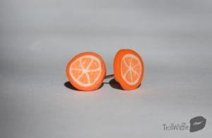 orange slices earrings by trollwaffle