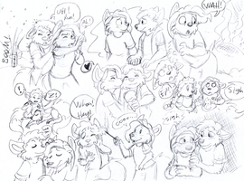 Doodlepage Commission: icelancefox 2 by two-cue
