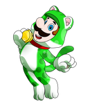 SMB Suits Collab_Lucky Cat Luigi by Chivi-chivik