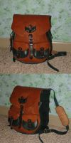 red-ish- and green backpack by danaan-dewyk