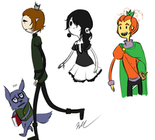 Adventure time doodles galore by MissWiggleButt