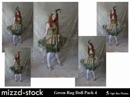 Green Rag Doll Pack 4 by mizzd-stock