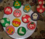 Nintendo Cupcakes by AzureShinobi