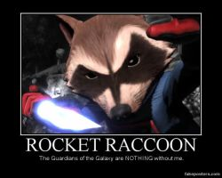 Rocket Raccoon poster by BatCountryDouche