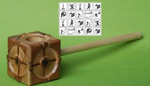 Companion Cube Pipe of Highly Figured Myrtle Wood by FloggleWerks