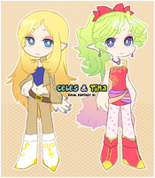 Celes and Terra PSG style by kiraga-neko