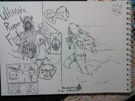 just rough sketch for Bleeding Hearts by Naruto711