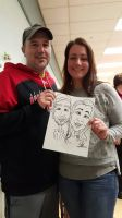 Couple's Caricature by KiraMoses